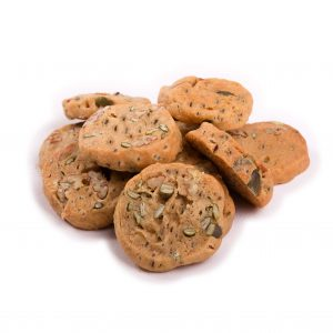 Mini Dairy Free Chia Pecan and Pumpkin Gluten Free Cookies