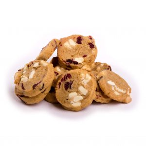 Mini White Choc and Cranberry Gluten Free Cookies